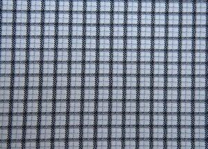 New black, white and grey plaid knit fabric 1.6 m x 61.5 in