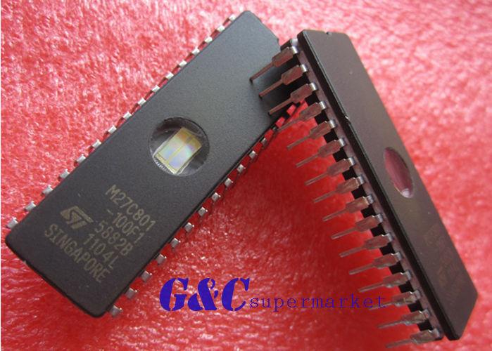 25PCS M27C801-100F1 27C801  ST IC EPROM UV 8MBIT 100NS 32CDIP NEW GOOD QUALITY