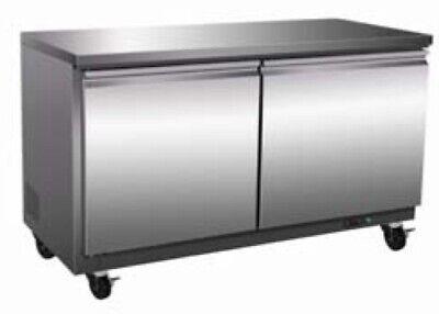 36 2 Double Door Undercounter Worktop Freezer New W Casters Free Shipping