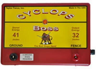 Cyclops Boss 32 Joule 1000 Acre Ac Powered Electric Fence Charger Energizer