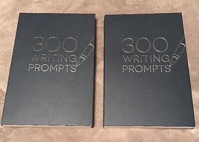2 Books 300 Writing Prompts  Blue Books     One To Show   One To Go   Piccadilly