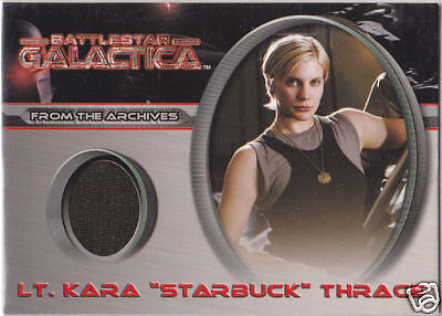Battlestar Galactica Costume (BATTLESTAR GALACTICA PREMIERE COSTUME CC2 KATEE SACKHOFF LT KARA STARBUCK)