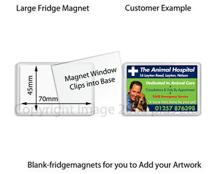 50 - 100 Blank Photo Fridge Magnets Wholesale (Large, Jumbo) 70 x 45, 90 x 60 mm