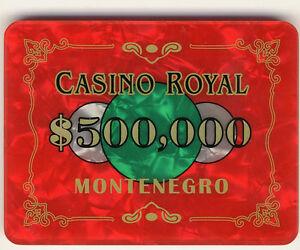 James bond poker plaques