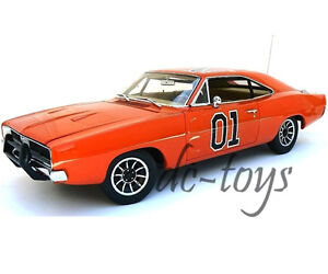 Autoworld Amm964 Dukes Hazard General lee 1969 Dodge Charger 01 1:18 Orange