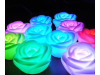 240 x Battery Powered Rose Shaped Lamp Lights Including Battery