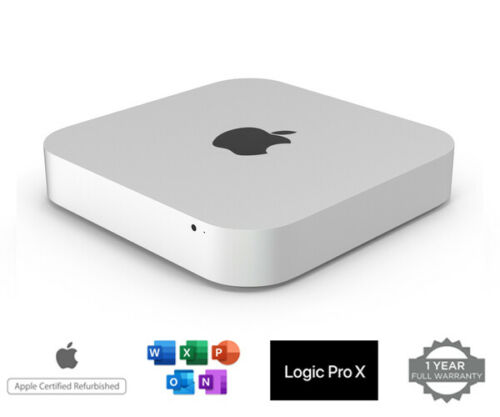 Apple Mac Mini Desktop Dual Core i5 2.5 8 Memory 500HD Office 2019 Catalina OS