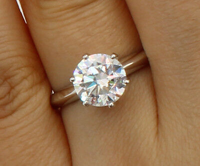 1.50 Ct 14K White Gold Cathedral Round 6 Prong Classic Solitaire Engagement Ring 14k White Gold Classic Prong