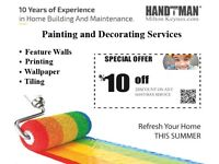 Painting And Decorating Services - Handyman Milton Keynes