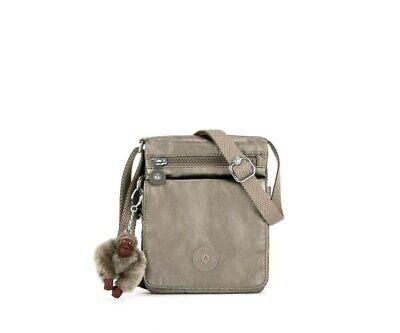 Kipling El Dorado Small Shoulder Crossbody Bag Metallic Pewter