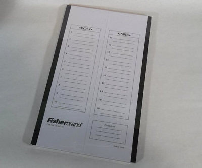 New Fisherbrand 20-place Microscope Slide Flat Storage Folder 12-587-10