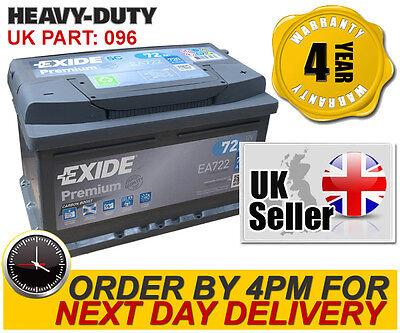 EA722 096TE Exide 096 Premium  Car Battery 4 Year Wty - fits many Volvo VW