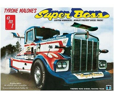 AMT AMT930 1/25 Tyrone Malone Kenworth Super Boss Drag Truck Plastic Model Kit
