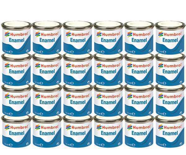 HUMBROL Enamel Paint Gloss Matt Satin Varnish 14ml Choose Colour Color Tinlet