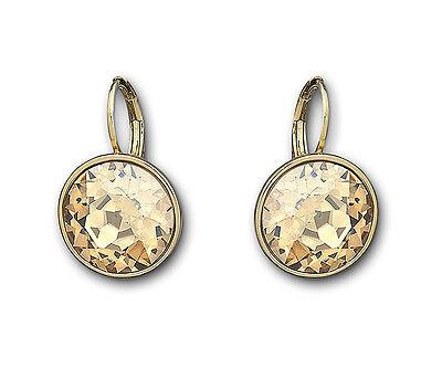 Swarovski Crystal BELLA Golden Shadow Pierced Earrings 901640
