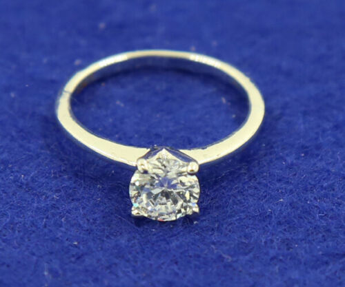 Vintage 1.30CT 14K White Solid Gold Natural Diamond Ring Endless Jewelry size5.5