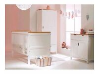 East Coast Colby nursery bedroom set inc cotbed, wardrobe and dresser for baby/toddler