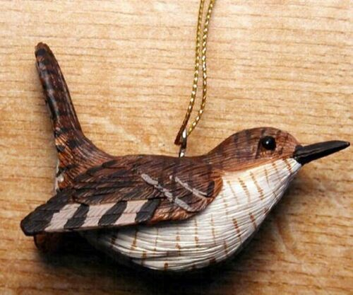 Polyresin Decorative Bird  Ornament  - Wren - FWC130