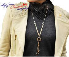 14K GP Hypoallergenic Stainless Steel Tassel Long Necklace