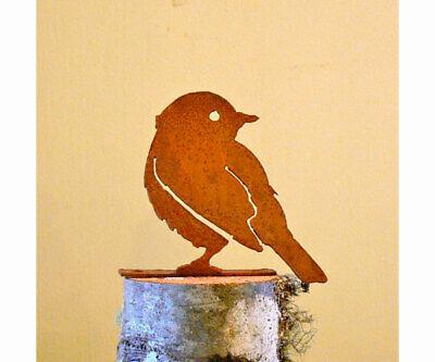 Garden YELLOW WARBLER, Bird Silhouette Rusty Metal, Steel Rustic Art Made USA](Birds Silhouette)