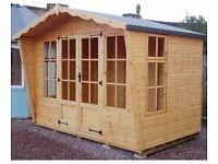 Premium Lomond Summerhouse 10ft x 6ft 19mm Log Exterior