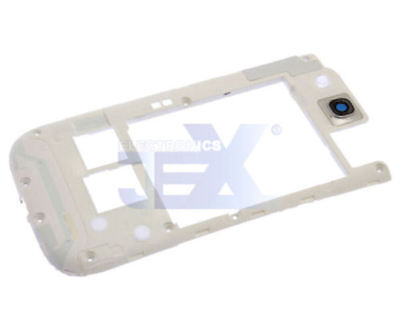White Back Middle Frame Midplate Midframe Bezel For Samsung Galaxy S3 i9300 for sale  Shipping to India
