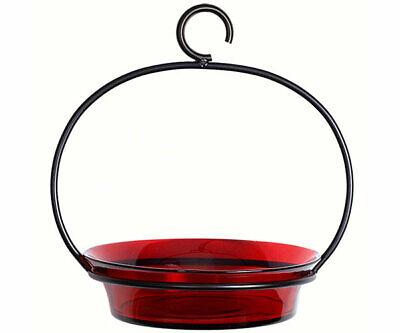 Couronne Co Red Cuban Bowl Hanging Birdbath and Bird Feeder COURM33720006