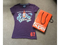 Ladies Superdry Top Small With Bag