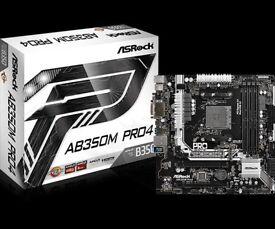 Asrock AB350M Pro4 (Ryzen) AM4 Motherboard