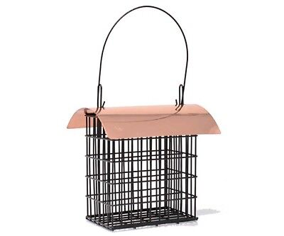 Songbird Essentials Deluxe Double Suet Cage with Copper Roof Bird Feeder 105