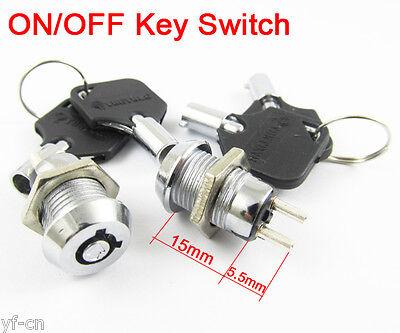 10 Pcs Key Ignition Switch Onoff Lock Switch Plastic Handle 10.5x19mm 506