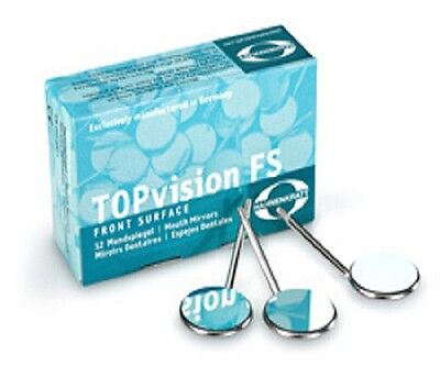 Hahnenkratt Dental Topvision Fs-rhodium Ref 731x5 Plane Cs Mouth Mirrors 12bx