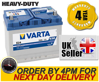 Varta E24 Heavy Duty High Performance 069 / 072 12V 70Ah Car Battery - 4 Yr Wnty