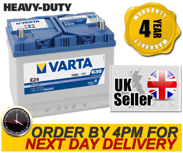 Varta E24 Heavy Duty High Performance 069 / 072 12V 70Ah Car Battery - 4 Yr Wnty