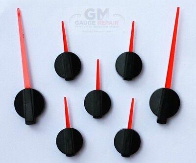 Speedometer Gauge Cluster Custom Needles 2003 to 2006 GM Red Pointer Black Hub