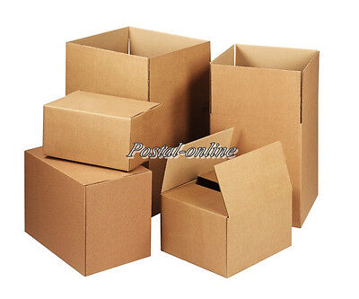5 x SINGLE Wall 8x6x4 Cardboard Mailing Gift Postal Perfume Boxes shipping post