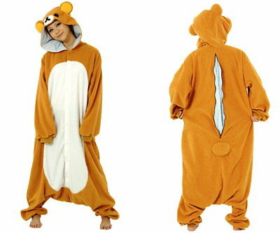 JAPANESE authentic san-x sazac Rilakkuma kigurumi costume fleece fabric unisex
