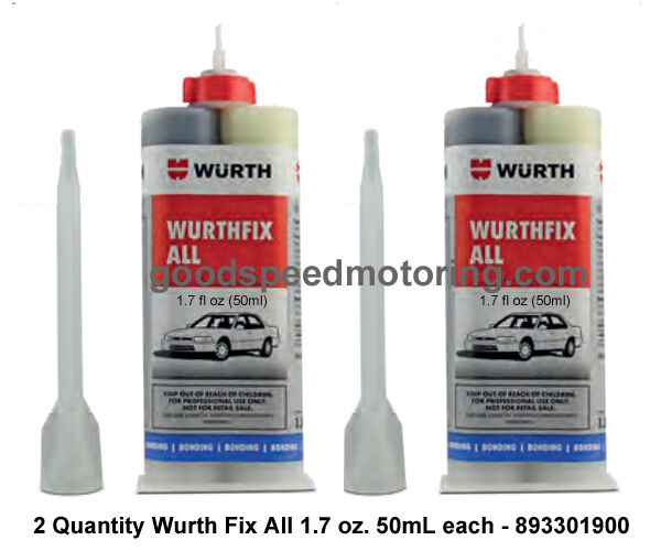 Wurth Fix All - High Strength 2 Part Epoxy - 893301900 - 2 Pack