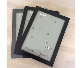 3 x Ikea Black Picture Photo Frames BRAND NEW