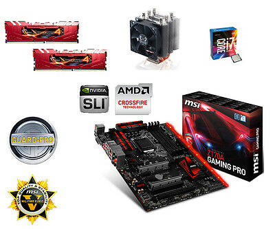 Bundle Intel Core i7 6700K+4x4,20GHz-MSI Z170A Gaming Pro-16GB PC2133 G.Skill