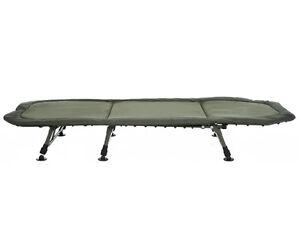 Trakker NEW Fishing RLX Flat 6 Leg Compact Bedchair *FREE Pillow Worth £20*