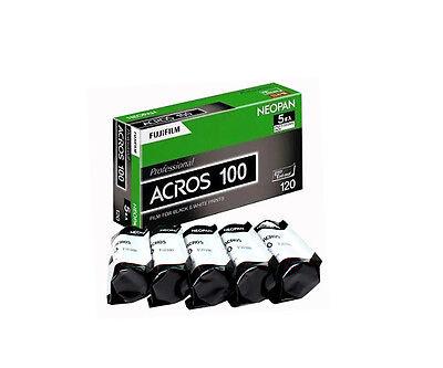 5 Rolls Fuji Fujifilm Neopan Acros 100 120 B/W Medium Format Film Fresh 10/2019