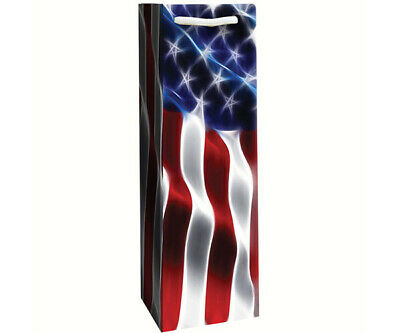 Patriotic Printed Paper Single Wine Bag - Freedom - Pack of 6 -  P1FREEDOM