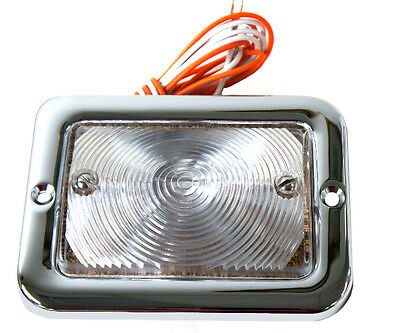 1954~55 Chevy Pickup Truck Parking Lamp Light Assembly Clear Lens 12 Volt - LP07 55 Chevy Park Light