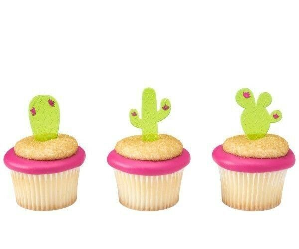 CACTUS Cupcake Toppers Picks Decorations 12 pc Fiesta Party
