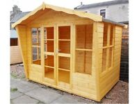 """8ft x 6ft with an 18"""" Overhang Summer House"""