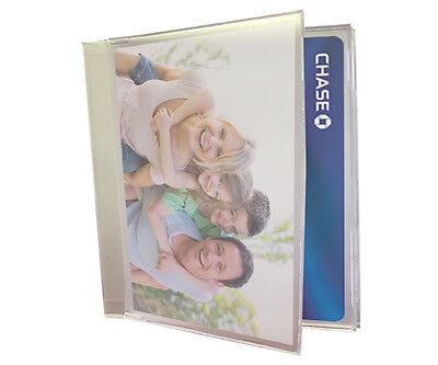 Tri-Fold Wallet Photo Insert Fits Debit Card Holders Set of 2