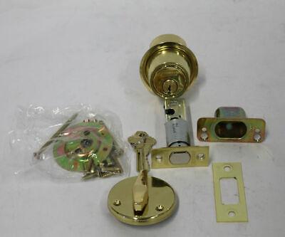 Schlage B560p 605 Grade 2 Deadbolt Lock Single Cylinder Function - Bright Brass