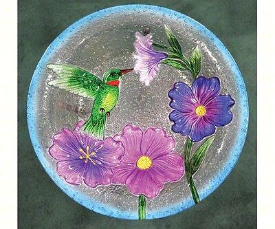 Songbird Essentials Hummingbird Glass Birdbath W/ Stand SE5001