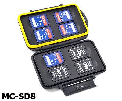JJC Memory Card Mini Case MC-SD8 Speicherkarten Schutzbox Cards 8x SDHC Micro